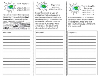 Hurricanes: Earth's Mightiest Storms/ Journey Common Core Trifold