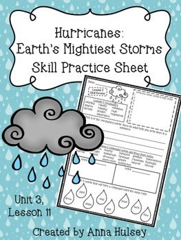 Hurricanes: Earth's Mightiest Storms (Skill Practice Sheet)
