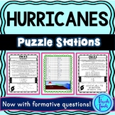 Hurricanes Escape Room! Natural Disasters - Earth Science - NO PREP, PRINT & GO!