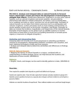 Hurricanes Independent Activity Catastrophic Events  MS-ESS3-2.