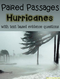 Hurricanes Paired Passages with Text Based Evidence Questions