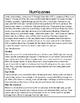Hurricanes Printable Comprehension Passage