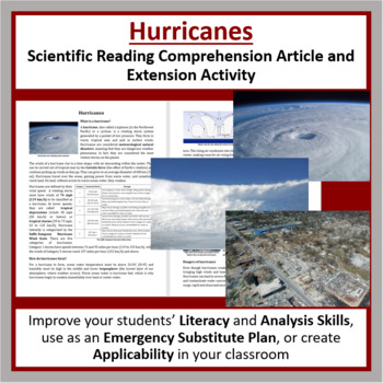 Hurricanes Reading Comprehension Article - Grade 8 and Up