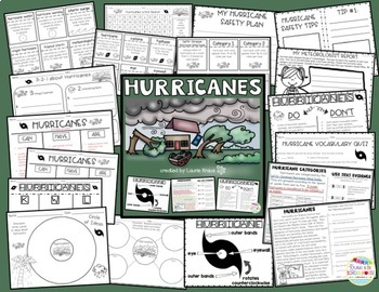 Hurricanes: Research, Graphic Organizers, Text Evidence, and Safety Tips