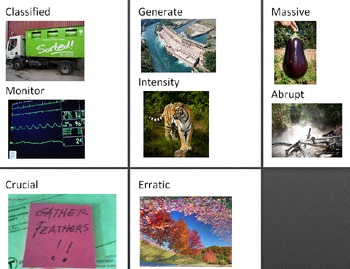 Hurricanes - Book vocabulary activities