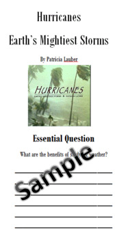 Hurricanes Study Resource 4th Grade Journeys Unit 3, Lesson 11