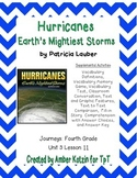Hurricanes Supplemental Activities 4th Grade Journeys Unit 3, Lesson 11