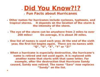 Hurricanes - Their Names Past & Present