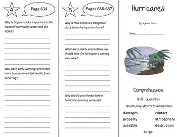 Hurricanes Trifold - California Treasures 5th Grade Unit 5 Week 5