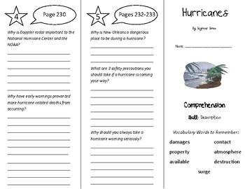 Hurricanes Trifold - Treasures 5th Grade Unit 2 Week 5