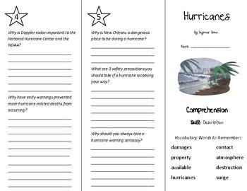 Hurricanes Trifold - Treasures 5th Grade Unit 4 Week 4 (2009)