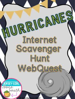 Hurricanes (Tropical Cyclones) Internet Scavenger Hunt WebQuest Activity