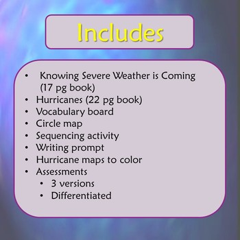 Hurricanes Unit for Special Education