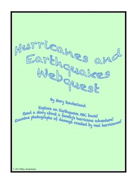 Hurricanes and Earthquakes Webquest