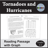 Hurricanes and Tornadoes Weather Reading Comprehension NGSS 3-ESS2-1