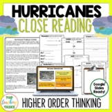 Hurricanes and Tropical Cyclones Reading Comprehension Passages and Questions