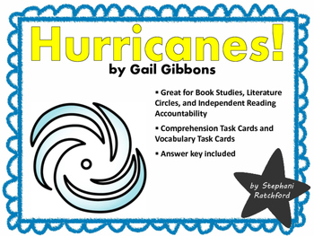Hurricanes by Gail Gibbons Comprehension and Vocabulary Task Cards