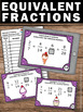Equivalent Fractions Task Cards 4th Grade Math Centers Gam