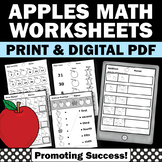 Apples Math Worksheets 1st Grade Special Education Math Review Digital Activity
