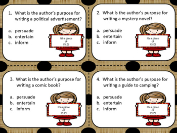 Hurry Up & Scoot Game: Author's Purpose