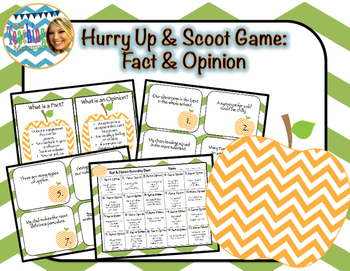 Hurry Up & Scoot Game: Fact & Opinion
