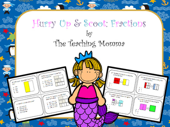 Hurry Up & Scoot Game: Fractions
