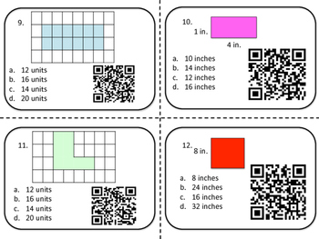 Hurry Up & Scoot Game (with QR Codes): Math Test Prep Review