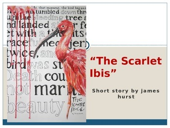 "Hurst's ""The Scarlet Ibis"" (PowerPoint)"