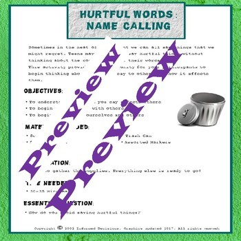 Hurtful Words Empathy Lesson