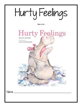 Hurty Feelings Reader Response Packet