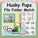 Husky Pups File Folder Match