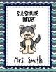 25 Husky Teacher Binder Covers EDITABLE