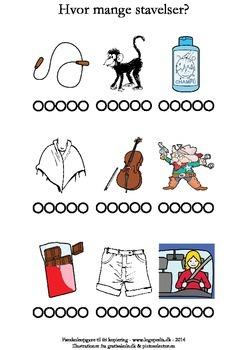 Hvor mange stavelser er der? /ɕ/ by sprogkiosken | TpT