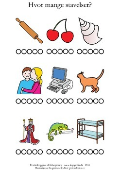 Hvor mange stavelser er der? /k/ by sprogkiosken | TpT