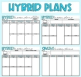 Hybrid A/B & Online Lesson Plans (Templates are not editable)