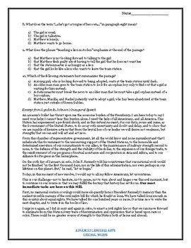 Hybrid SAT and ACT Reading Test 2