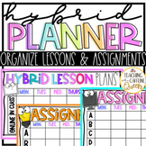 Hybrid Schedule Planner Templates for Hybrid Learning and