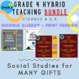 Hybrid Social Studies Bundle of both Grade 4 Workbooks - G