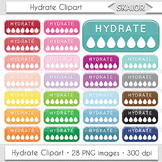 Hydrate Clipart Hydration Clipart Drinking Reminder Water