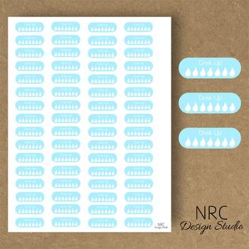 Hydrate Planner Stickers - Printable Planner Stickers, Teacher Planner