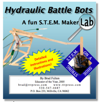 Hydraulic Battle Bots: a Fun S.T.E.M. Maker Lab