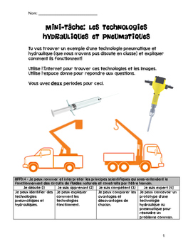 Hydraulic and Pneumatic Systems (en Français)