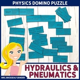 Hydraulics and Pneumatics Terms Domino Puzzle | Physics Vocabulary Review