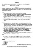 Hydraulics practice calculations