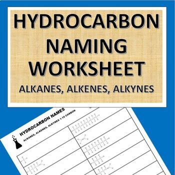Hydrocarbon Naming Worksheet