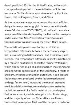 Hydrogen bomb Handout