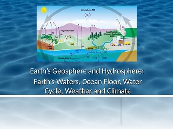 Earth's Waters, Ocean-Floor, Weather & Data Review Q & A(Earth Science)