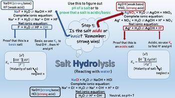 Hydrolysis Student Help Sheet