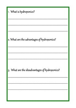 Part two - Hydroponics journal