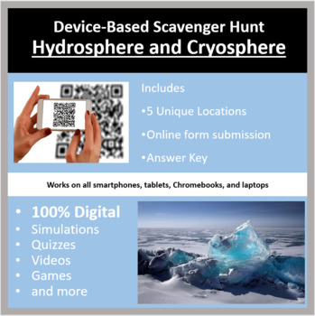 Hydrosphere and Cryosphere – A Digital Scavenger Hunt Activity
